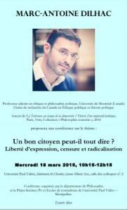 Dilhac Montpellier Liberté d'expression