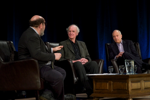 Avec Sandel, Taylor et Weinstock, Conférence de la Montagne.