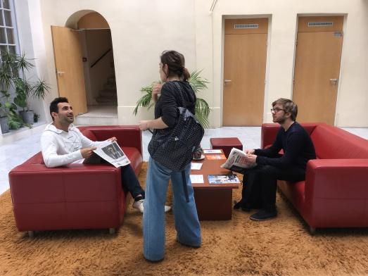 La vie étudiante à la Maison Suger. Eid Harb, Morgane Delorme, Hugo Cossette-Lefèbvre